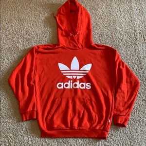 Red Adidas sweatshirt
